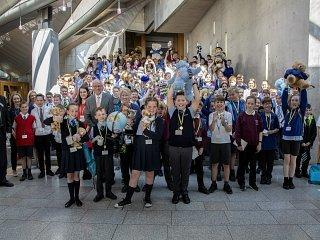 The national Euroquiz final was held at the Scottish Parliament