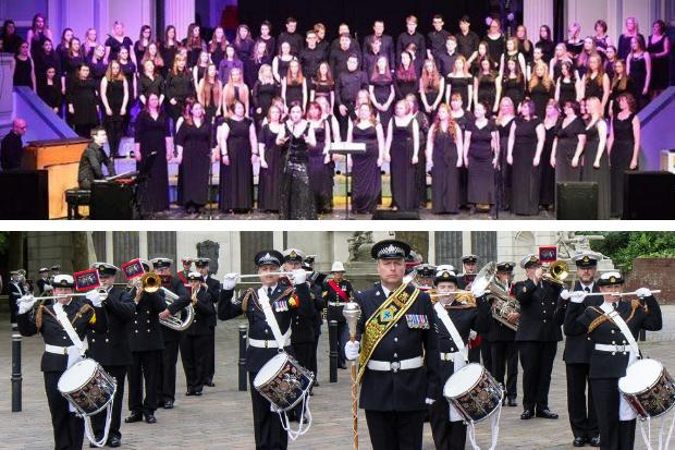 The West of Scotland Military Wives' Choir and the HMS Neptune Volunteer Band will share the bill at the special concert on June 6