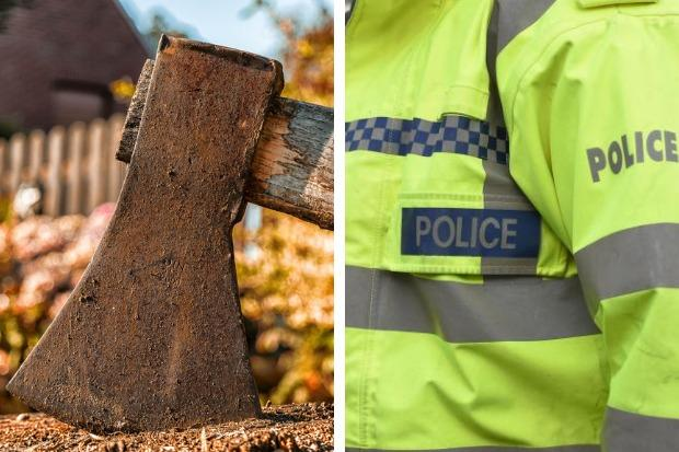 Two boys, aged 16 and 14, were arrested on suspicion of being in possession of axes in a Helensburgh street