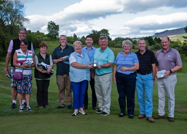 Helensburgh's mixed senior open prize winners