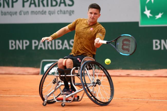 Gordon Reid's French Open performance was his best at a Grand Slam singles event since 2016 (Pic - Tennis Foundation)