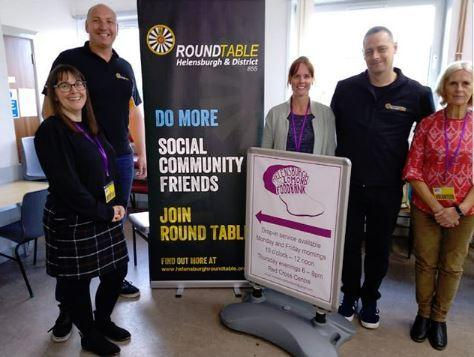 Round Table members with representatives of the Helensburgh and Lomond Foodbank (Pic - Helensburgh & District Round Table on Facebook)